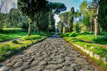 Roman era Via Appia in Italy