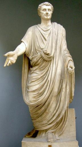 Emperor Nerva (r. 96-98AD) in the imperial toga