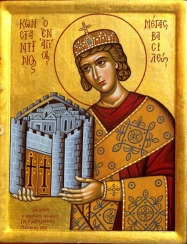 Emperor Constantine I the Great (r. 306-337), founder of the Byzantine Empire