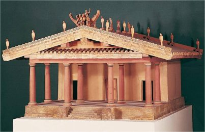 Classical style Etruscan temple