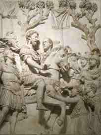 Marcus Aurelius with Claudius Pompeianus, 2nd husband of Lucilla