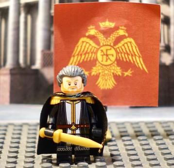 An older emperor Michael VIII Palaiologos Lego figure