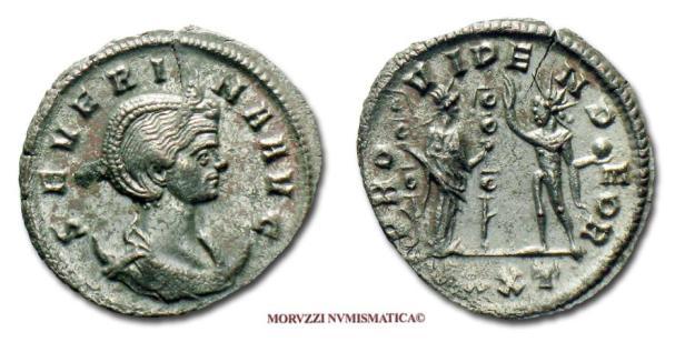 Coin of Aurelian's wife Empress Ulpia Severina (r. 275)