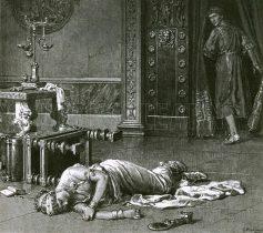 Death of Poppaea kicked by Nero, 65AD