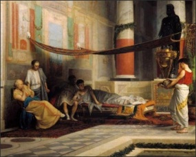 Octavia's head brought to Nero, 62AD