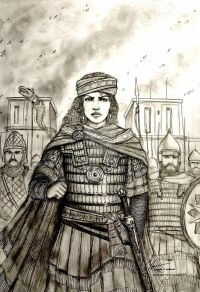 Empress Zenobia of Palmyra leading her armies