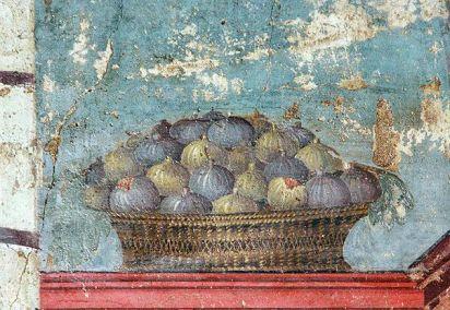 Fresco of Roman figs from the Near East