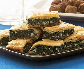 Greek spinach pastry (spinach from Arab influence)