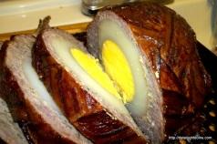 Boiled ostrich and ostrich egg recipe recreated