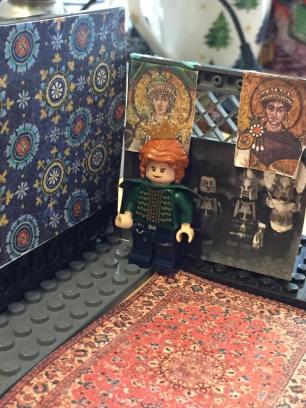 Empress Theodora with Empress Theodora mosaic behind