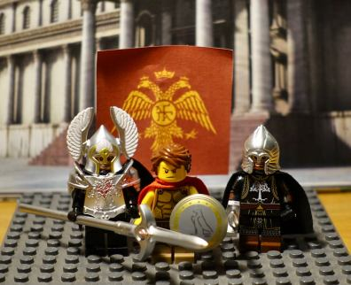 Foreign blood Byzantine soldiers left to right: Sviatoslav, Haran, Stephanos