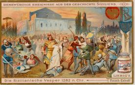 Rebellion of the Sicilian Vespers against French rule in Sicily, 1282