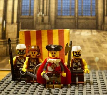 Peter III of Aragon and his Lego Catalan (Almogavar) soldiers