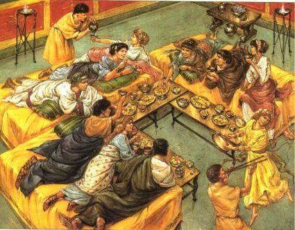 Wealthy Roman dining
