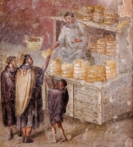 Fresco of a bread stall in Ancient Rome