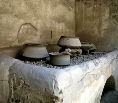 Roman kitchen stove
