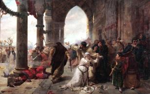 Scene of the Sicilian Vespers, 1282