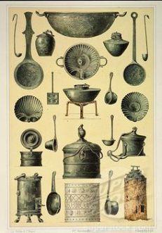 Roman kitchen utensils