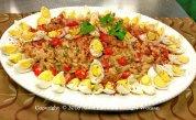 Byzantine egg salad recreated