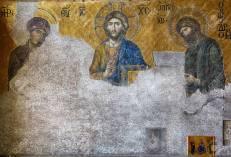 Deesis mosaic, Hagia Sophia added by Michael VIII in 1261