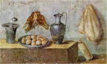 Fresco of a Roman Ientaculum (breakfast)