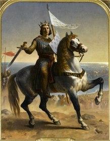 King Louis IX at the 7th Crusade, 1248