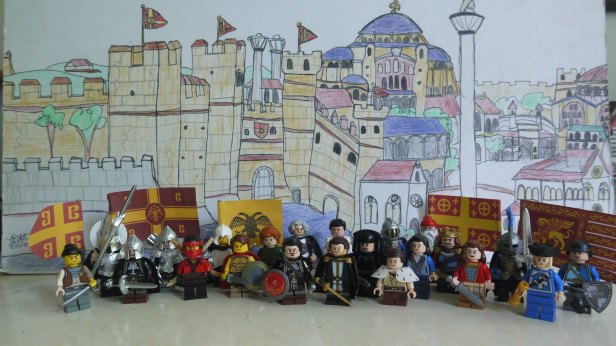 Complete cast pic of Summer of 1261 with the Constantinople background
