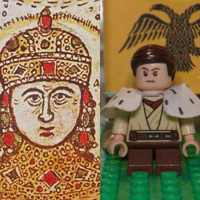 Emperor John IV Laskaris Vatatzes of Nicaea (left), Lego John IV (right)