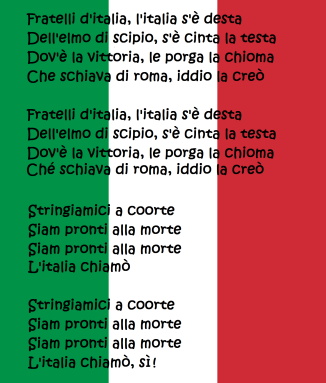 Italian national anthem (reference to the Sicilian Vespers)