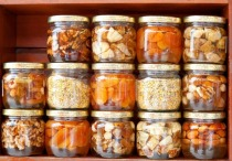 Byzantine style fruits in jars of honey