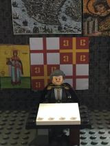 Lego Emperor Michael VIII in his study