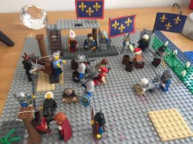 """Lego scene of Sicily from No Budget Films' """"War of the Sicilian Vespers"""""""