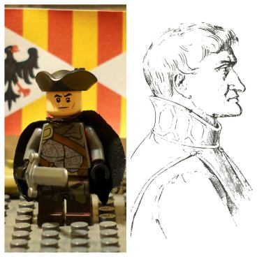 Lego Dr. Giovanni (left) and real Dr. Giovanni (right)
