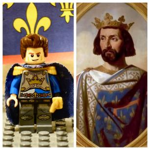 Charles of Anjou, King of Sicily (r. 1266-1285), Lego figure and real