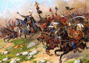 Ottoman Turk army of Osman raiding Asia Minor