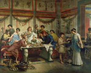 Dining in a wealthy Roman house