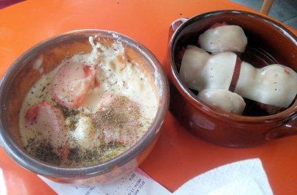 Possible recreated Byzantine fondue