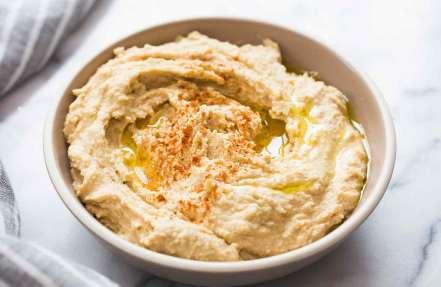 Hummus from chickpeas