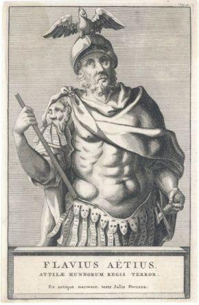 Western Roman general Flavius Aetius (391-454)