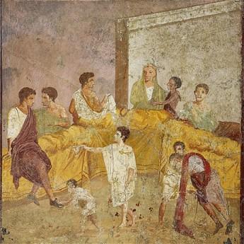 Fresco of a Roman Convivium
