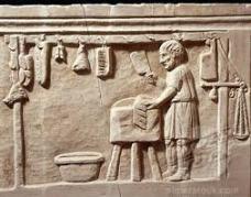 Relief of a Roman butcher shop