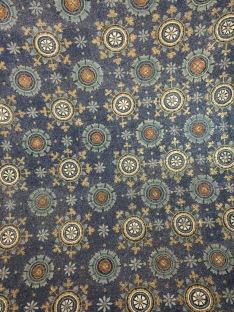 Star sky mosaic of the Mausoleum of Galla Placidia in Ravenna