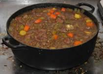 Byzantine Greek lamb and lentil stew