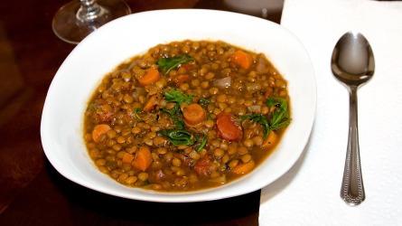 Byzantine style lentil soup recreated