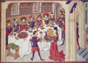 Medieval Latin version of dining