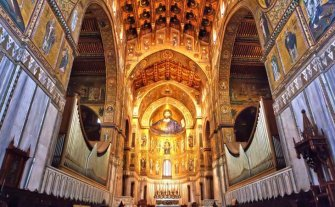 Monreale Cathedral outside Panomos (Palermo), Sicily