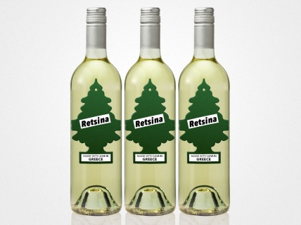Greek Retsina wine