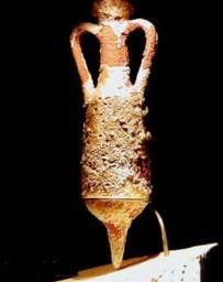Ancient Roman olive oil amphora