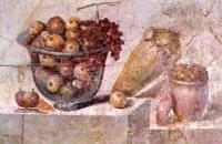 Fresco of Roman fruits