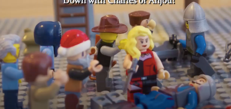 Beginning of the uprising in Sicily using Lego